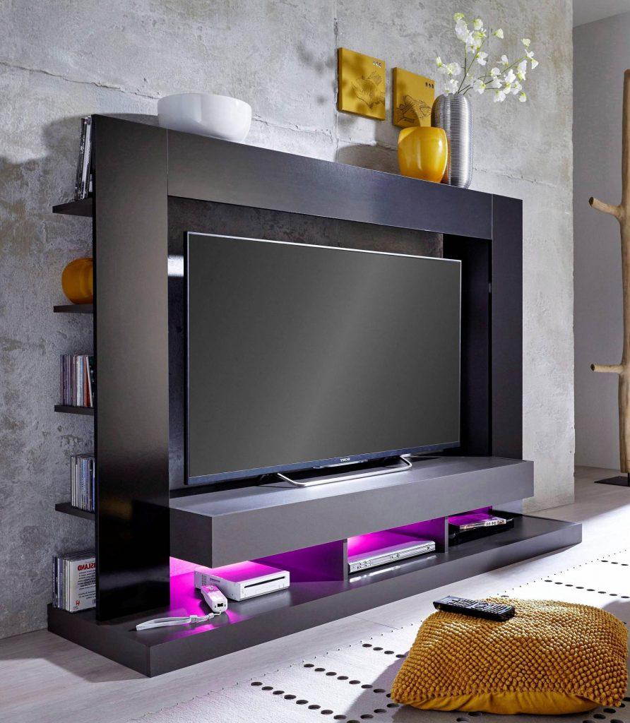 behind the TV storage