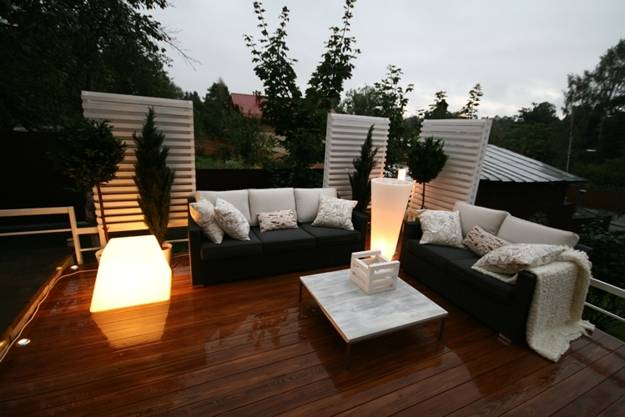 modern outdoor with lighting
