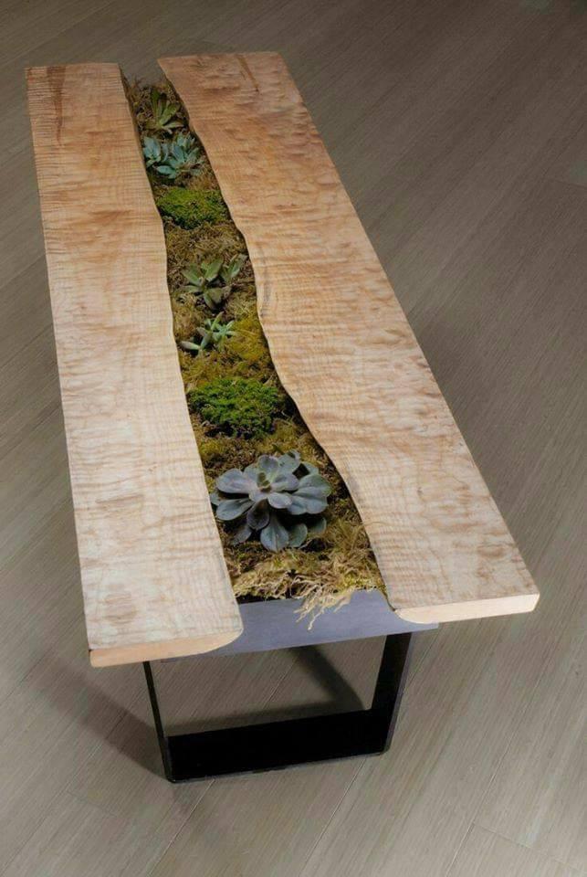 resin live edge table