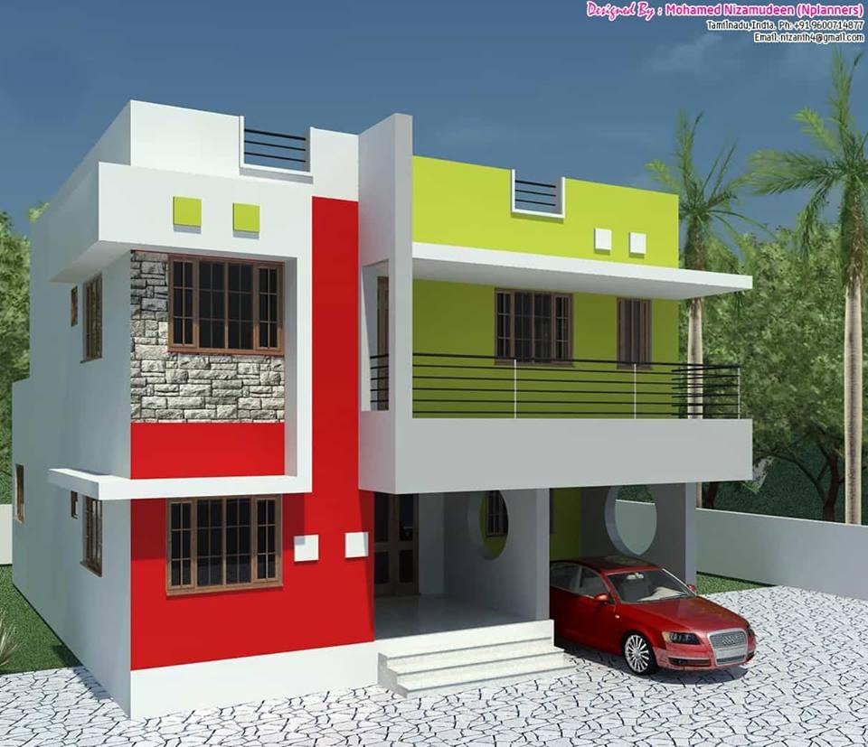 3D plan house exterior