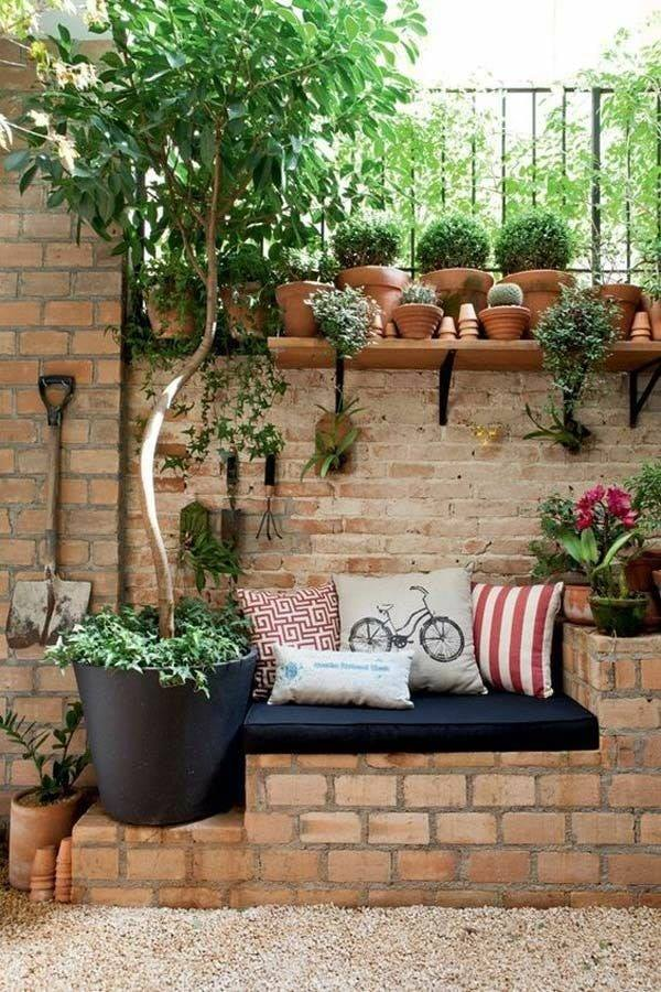bricks wall in garden
