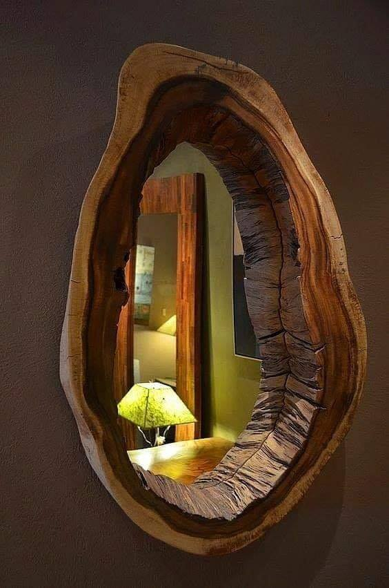 rustic wooden mirror frames