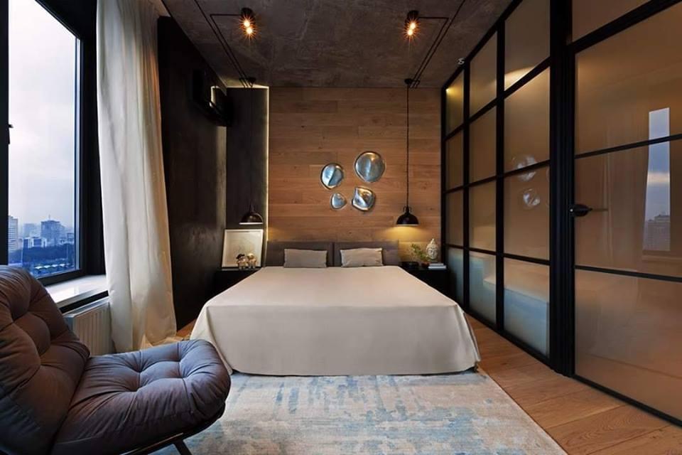glass door in bedroom