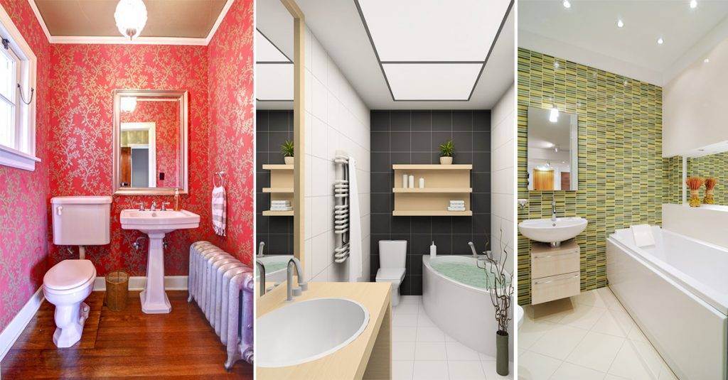Clever Designs of Small Bathroom