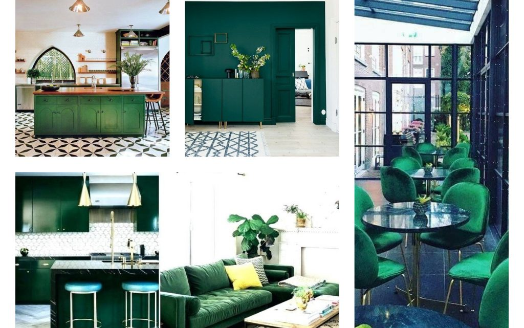 Dark Green Interiors to Die For