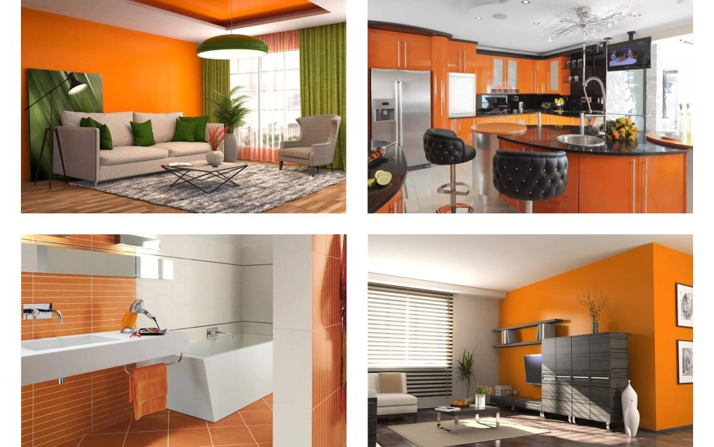 Create a Vibrant Space full of Warmth with the Orange Colour