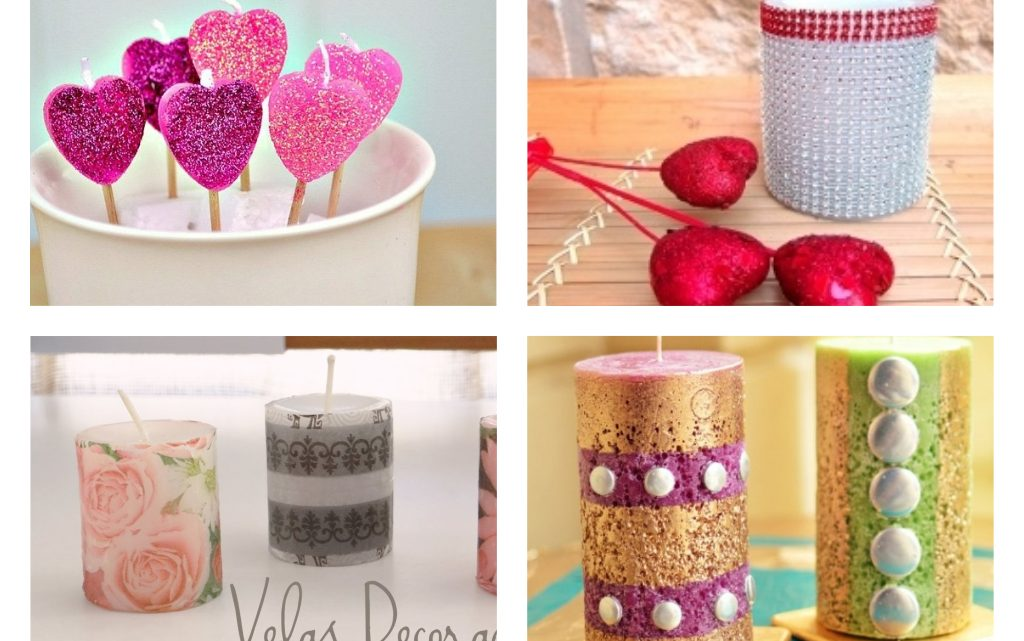 DIY Candles Decoration for Valentine's Day