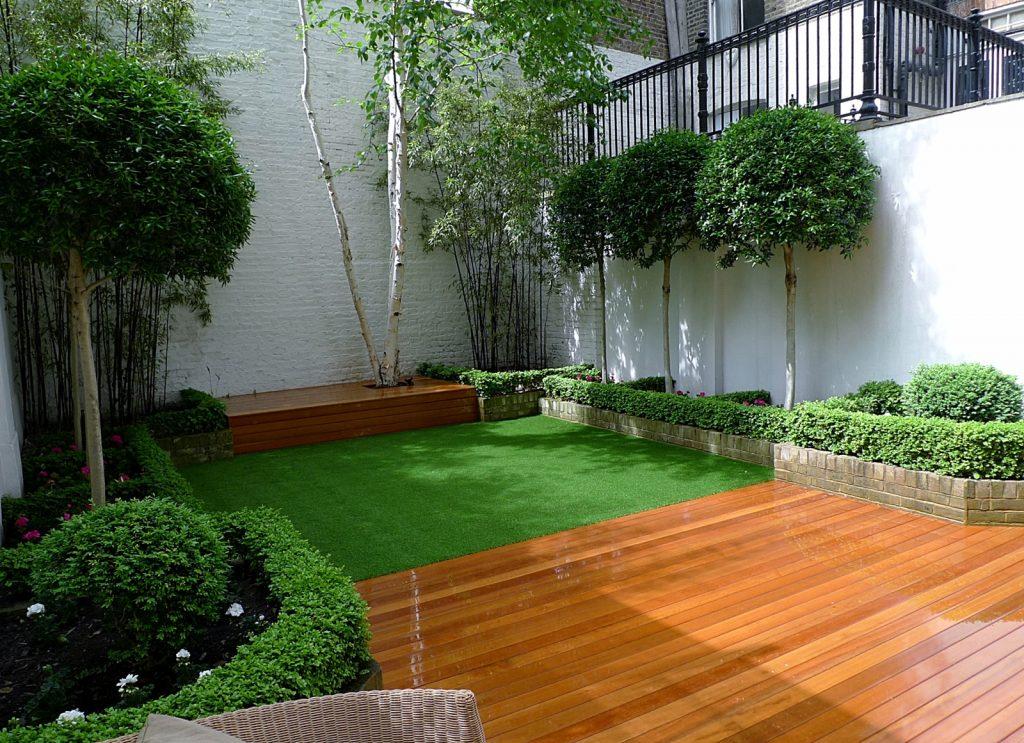 backyard wooden flooring