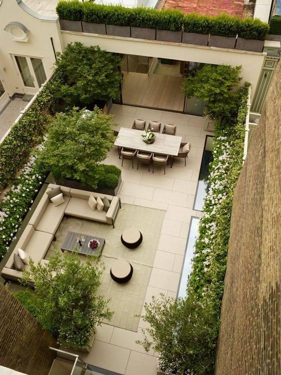nice terrace garden