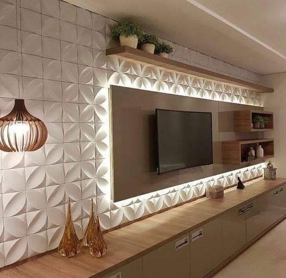 3D wall panel TV
