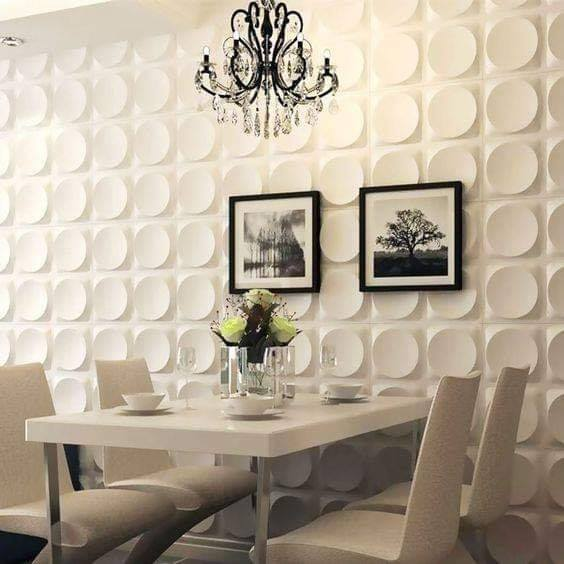 PVC wall panels dining room