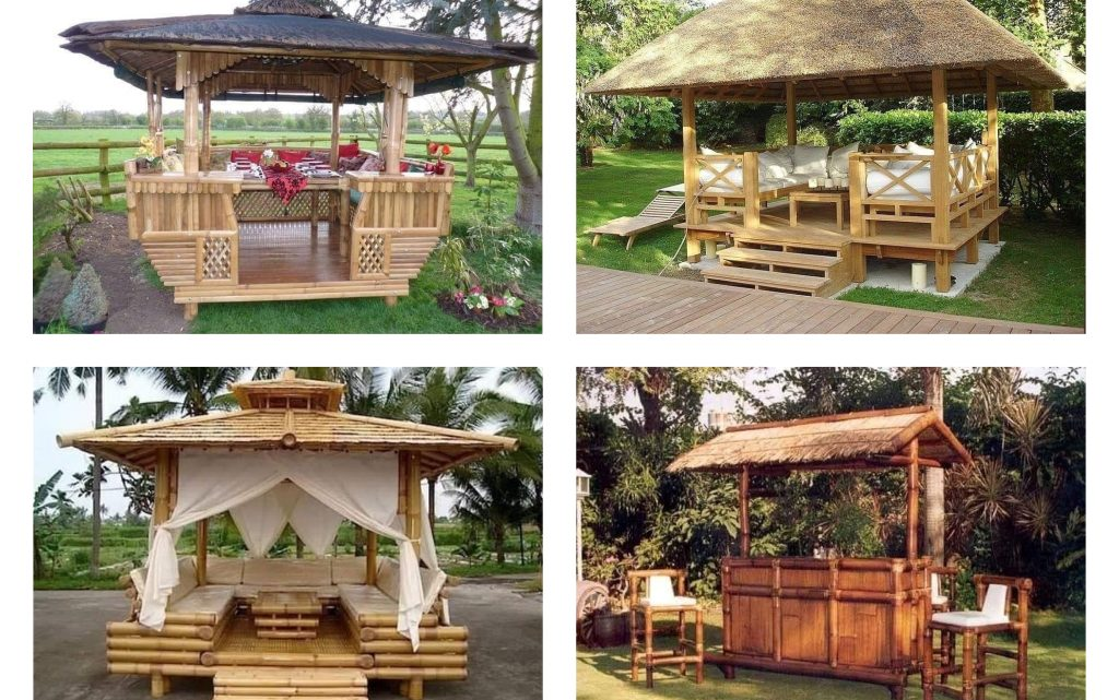 Lovely Covered Backyard Seating Pergola