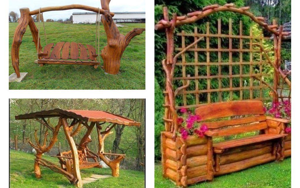 Rustic Wooden Swings for Nice Outdoor