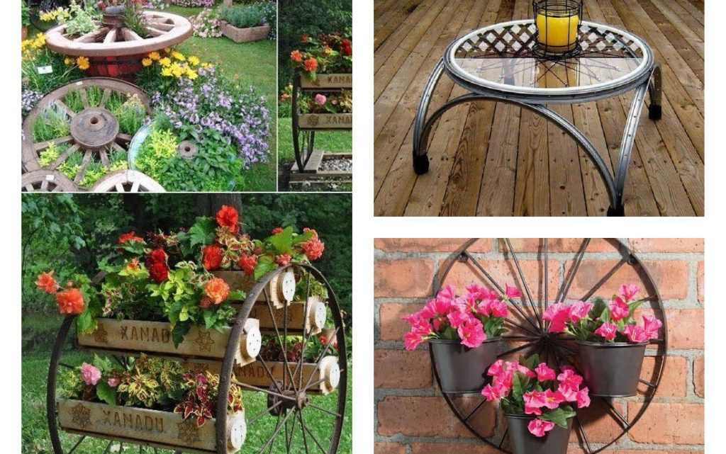 Interesting Wheel Reuse for Garden