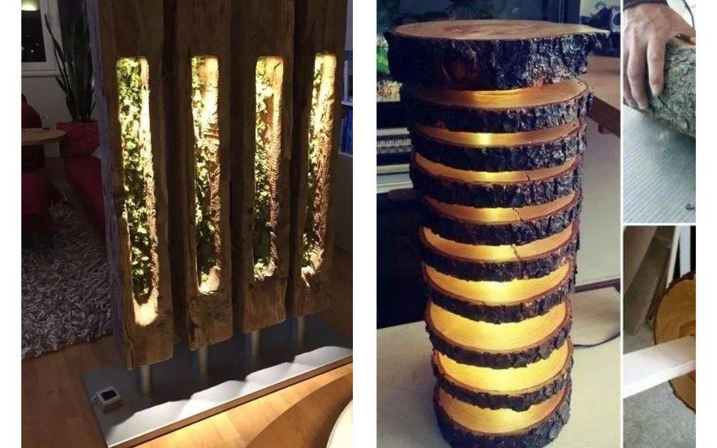 Stunning Wood Lighting in Interiors