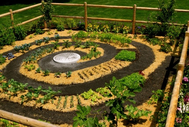vegetable spiral garden