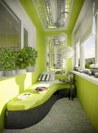 green balcony design