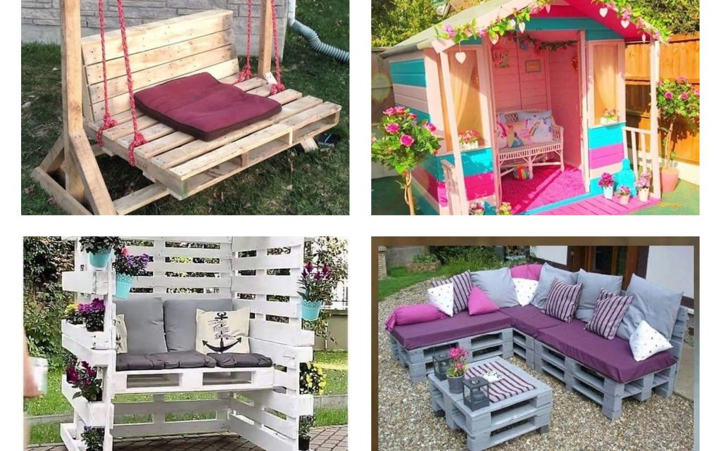 This is How to Reuse the Old Pallets for Garden Decor