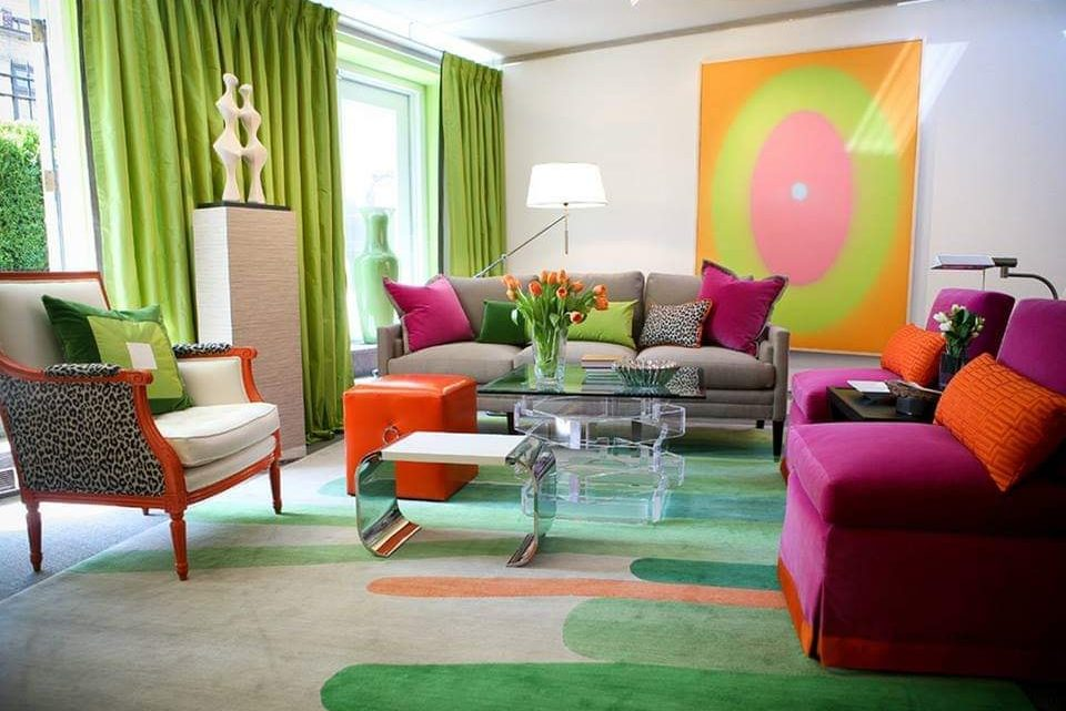 Vibrant Living Room Design Ideas