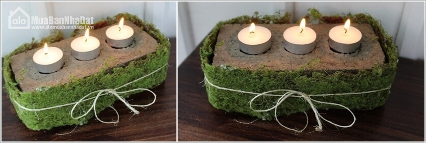 bricks candle holder