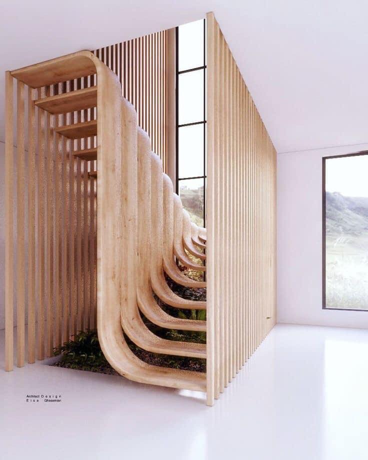 wooden unique steps
