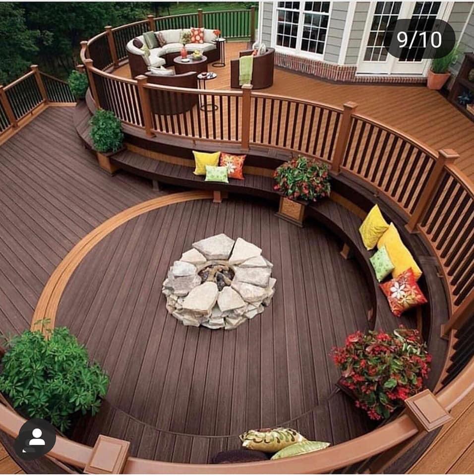 nice wooden deck
