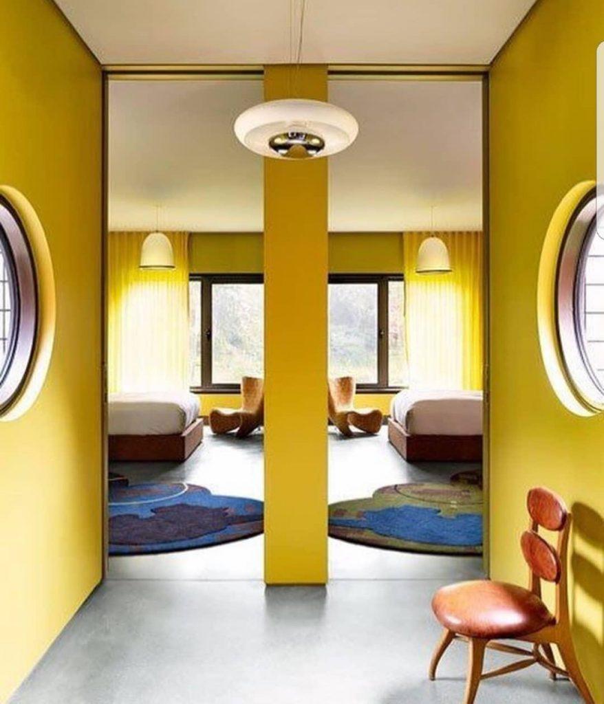 interior design yellow