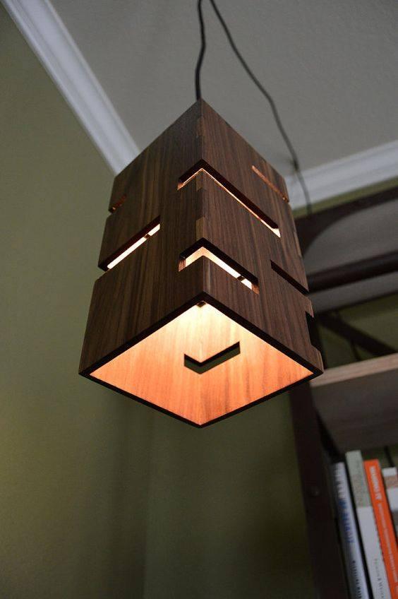 hanging wood chandelier