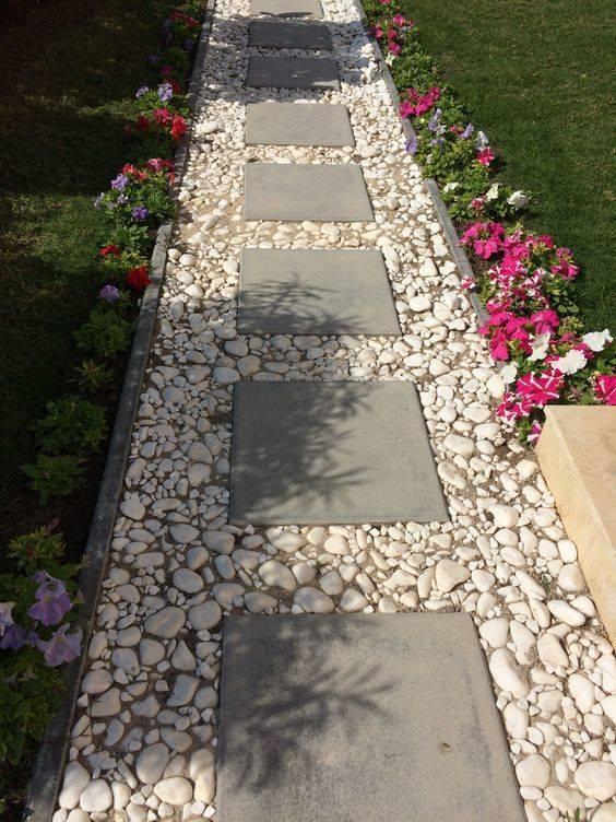 gravel paths