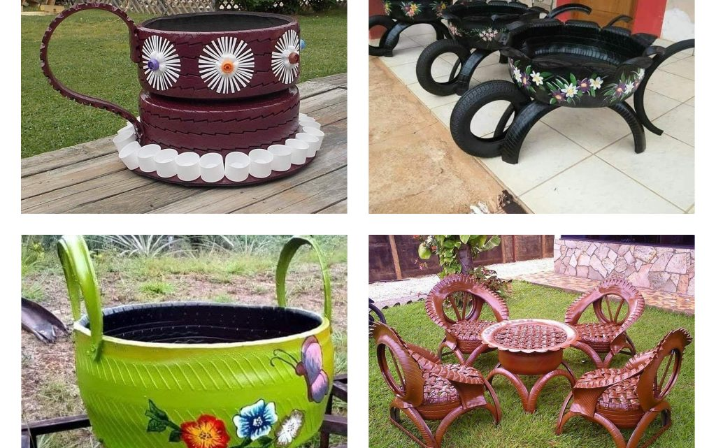 Cool Recycling Tires Ideas for Yard