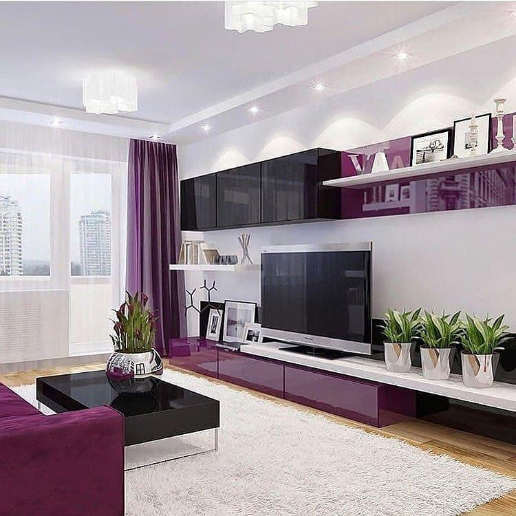 purple and black living groom