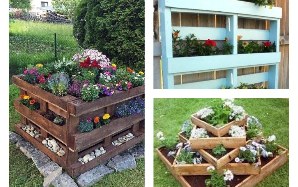 Alluring Pallet Flower Beds