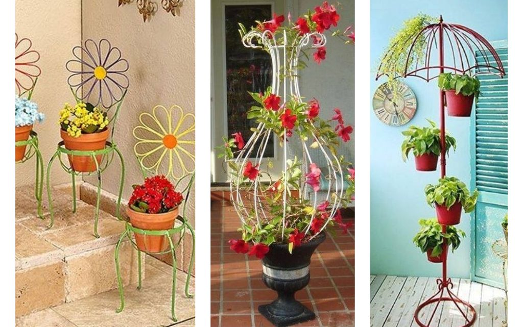 Fantastic Wrought Iron Flower Pot Holders