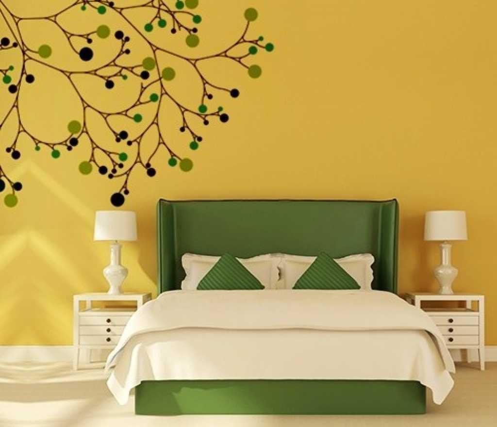 dark green bedroom walls design