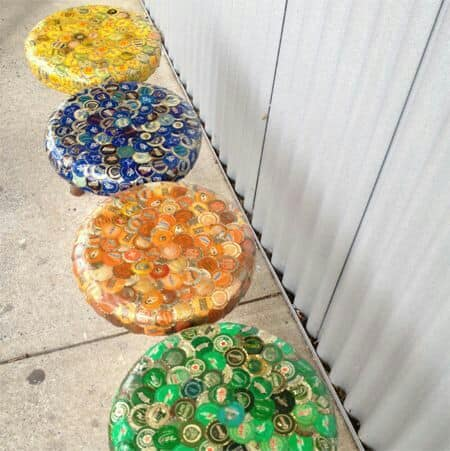 bottle caps chairs