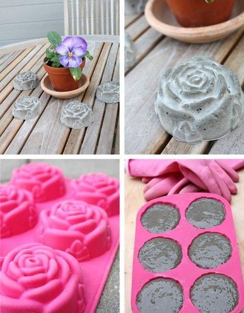 DIY Concrete Garden Decorations