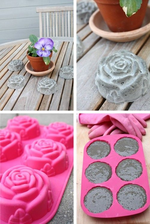 cement roses