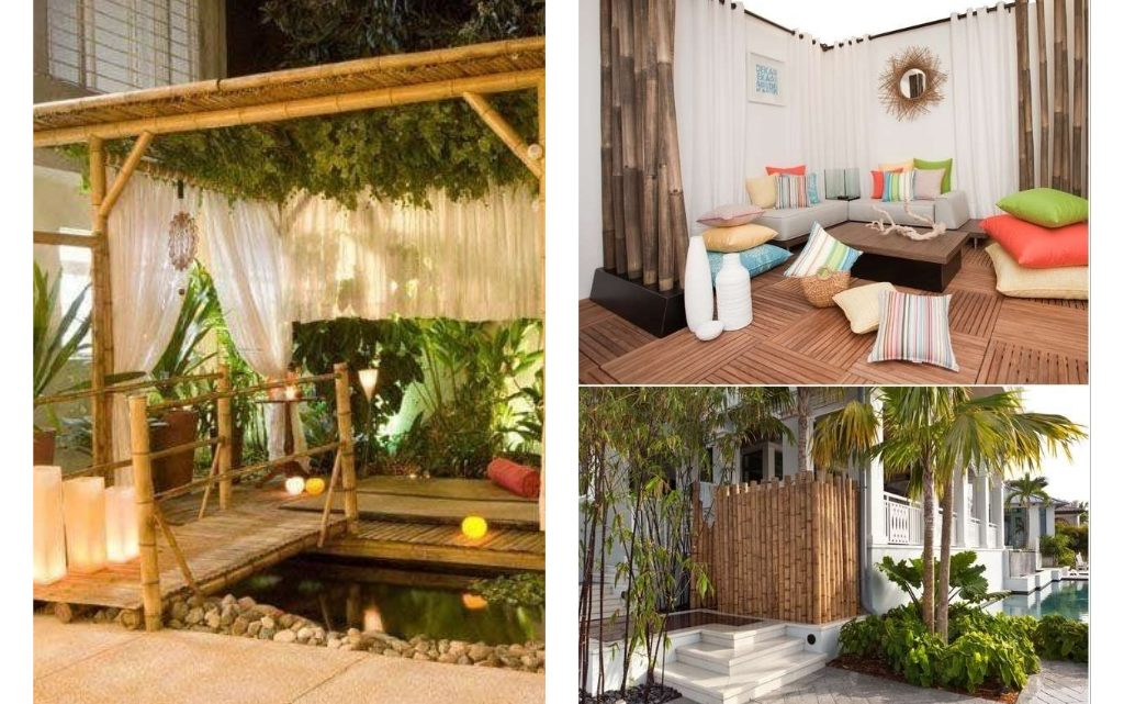 Make Your Yard Modern With Bamboo Decorations