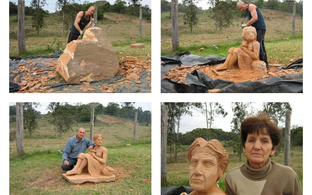 Stone Art! He Made it for His Mother!