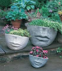 concrete face planters