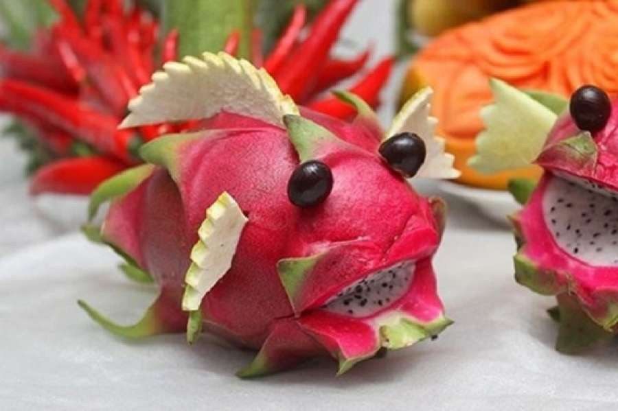 make animals from fruits