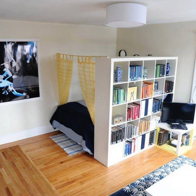 bedroom and home office