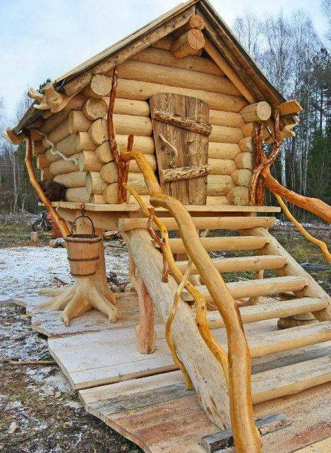 Impressive Wooden Logs Interiors and Exteriors