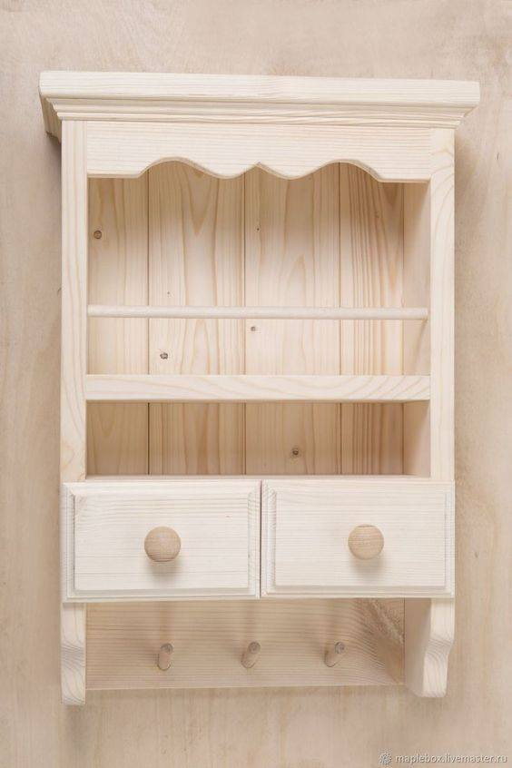 closed wooden shelves