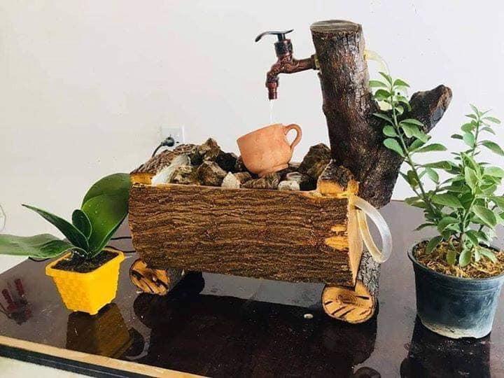 tree trunk kitchen sink