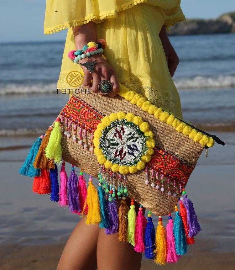 boho bag for beach time