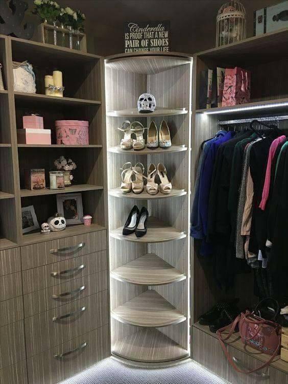 wardrobe with lights