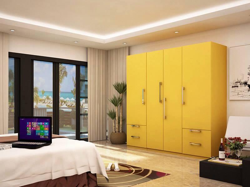yellow wardrobe