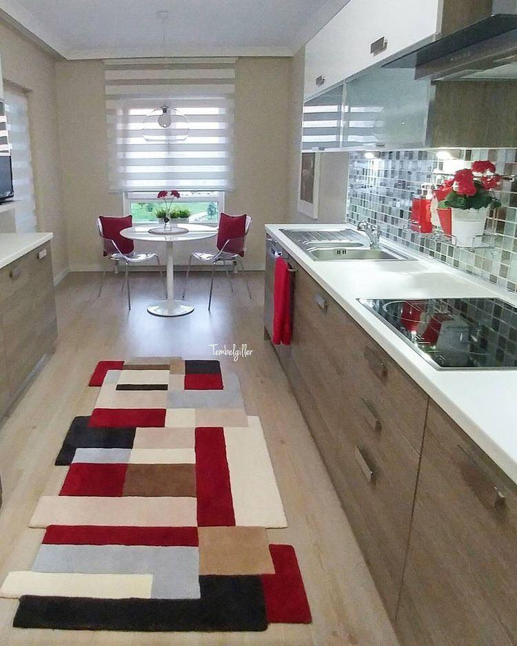 red accent kitchen