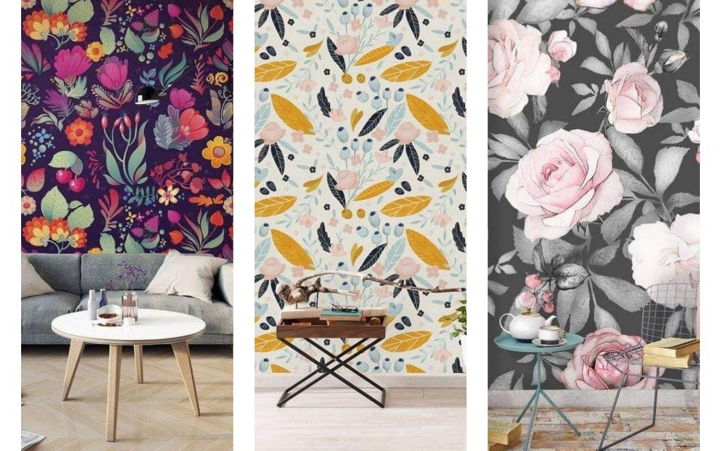 Nice 3D Floral Wallpaper for Stylish Home